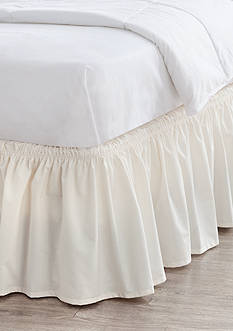 Home Accents Twin/TwinXL/Full Ivory Ruffle Bedskirt with Dual Fit Technology