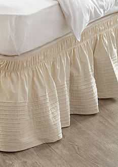 Home Accents Queen/King Linen Bedskirt with Dual Fit Technology