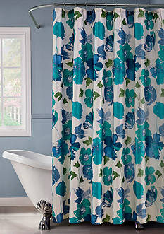 Dainty Home Floral Spring Shower Curtain Set