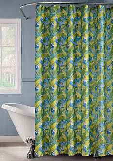 Dainty Home Palm Leaf Shower Curtain Set