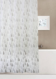 Dainty Home Raindrops 13 Pieces Shower Curtain Set