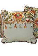 Mardi Gras Fashion Decorative Pillow 18-in. x 18-in.