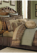 Marcella Taupe King Comforter Set 110-in. x 96-in. Bedskirt 15-in.drop, King Shams 37-in. x 31-in.