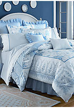 Sophia Blue Twin Comforter Set 86-in. x 63-in.