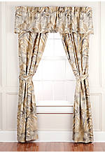 Bahamian Breeze Drapery Window Panels 84-in. x 42-in. with Tiebacks