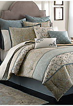 Berkley Ivory/Gold Twin Comforter Set 86-in. x 63-in.