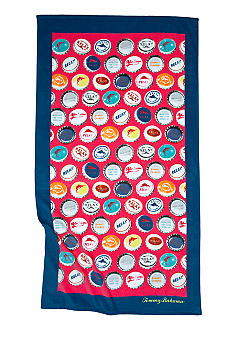 Tommy Bahama Bottle Caps Beach Towel