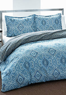 CITY SCENE MILAN BLUE Q DUVET