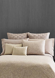 Vera Wang BASKET WEAVE PLEATS EURO SHAM