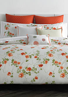 Vera Wang VW ORANGE BLSSMS QUEEN SHEET SET