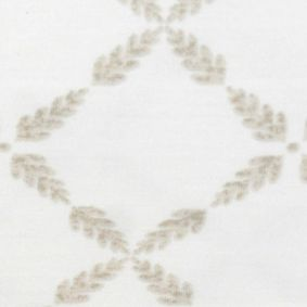 Casual Bedding: Cream Laura Ashley LA BRACKEN LEAF QUEEN SHEET SET DS