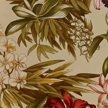 Floral Bedding: Ivory Tommy Bahama DAINTREE TROP DEC DIA RED