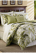 Island Botanical Ivory/Green Print Queen Comforter Set 96-in x 92-in.