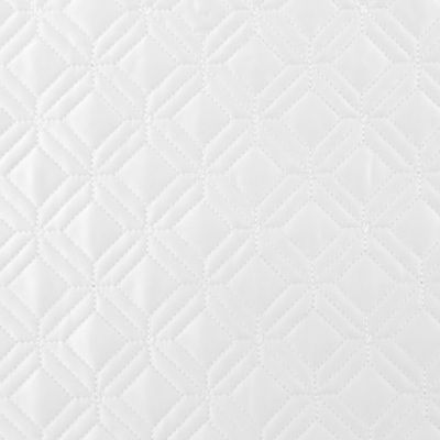 Casual Bedding: White Waterford LISMORE EURO WHITE