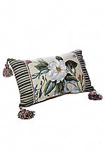 Garden Images Floral Jacquard with Tassels Decorative Pillow 12-in. x 20-in.