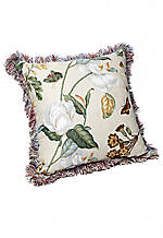 Garden Images Floral Jacquard with Trim  Decorative Pillow 20-in. x 20-in.
