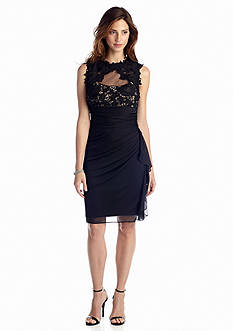 Perfect Pairings - Sleeveless Cocktail Dress with Lace, Mid-Thigh Body Briefer, Comfy Corset & Open-Bust Bodysuit