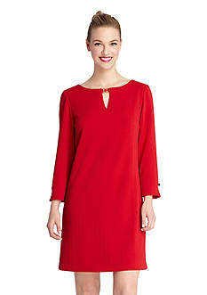Perfect Pairings - Long-Sleeve Shift Dress, Flipside Reversible Firmers Mid-Thigh, Slimplicity High-Waisted Shaper & Smooth Complexion Long Leg Shape