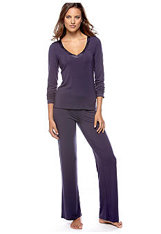 Calvin Klein Long Sleeve V-Neck Top & Pajama Pant