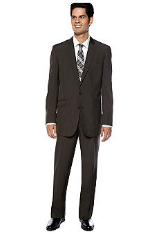Kenneth Cole Reaction Brown Stripe Suit & Calvin Klein Body Slim Fit Dress Shirt