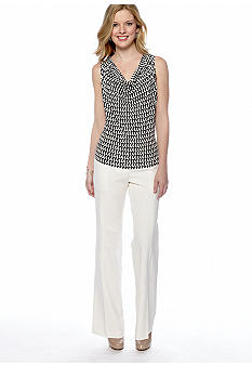 Calvin Klein Houndstooth Print Shell & Dress Pant
