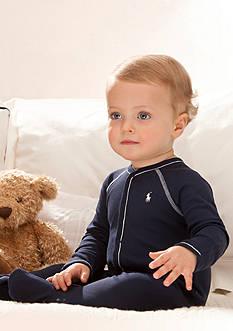 Ralph Lauren Childrenswear Solid Coverall, 2 Pack Burp Cloths, 3 Pack Bib Set & More