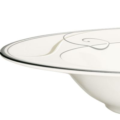 Platinum Dinnerware: Classic Silver Noritake Platinum Wave Round Vegetable Bowl