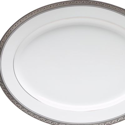 Serving Bowls: Classic Silver Noritake Round Vegetable Bowl 40-oz.