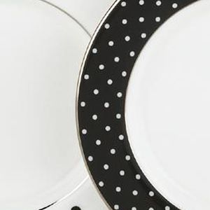 Platinum Dinnerware: Black kate spade new york LARB RD BLK 4TIDBITS