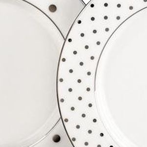 Decorative Dinnerware: Platinum kate spade new york LARB RD BLK ACCENT