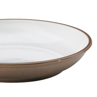 Apartment Living: Dining: White/Brown Denby TRUFFLE WIDE RIMMED TEAPLATE