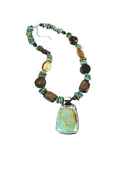 Barse Multistone Necklace with Pendant - Belk.com