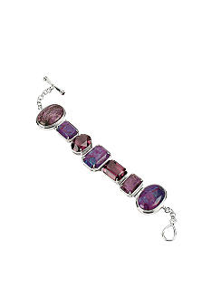Barse Purple Turquoise Link Bracelet with Toggle Closure - Belk.
