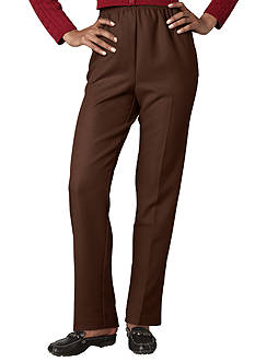 Alfred Dunner Solid Pull-On Pant