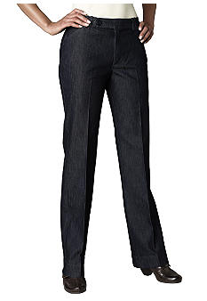 Lee&reg Platinum Classic Comfort Straight Leg Tailored Denim Pant Indigo Rinse finish.