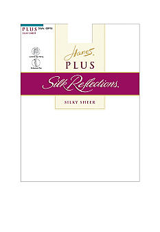 Hanes® Silk Reflections Plus Control Top Enhanced Toe Pantyhose