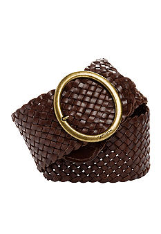 Jessica Simpson Asymmetrical Woven Leather Belt