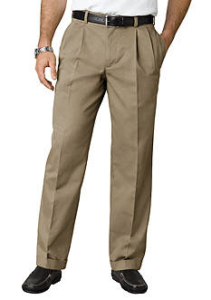 IZOD Classic Fit American Chino Pleated Wrinkle-Free Pants