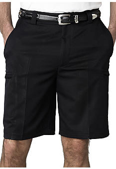 Izod Golf Microfiber Zip Cargo Shorts