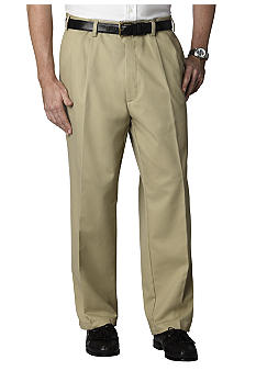 Izod Big & Tall American Chino  Pleat Front  Twill Pants