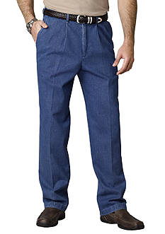 Haggar Classic-Fit Work To Weekend™ Pleated Denim Non-Iron Pants