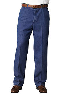 Haggar Classic-Fit Work To Weekend™ Flat-Front Denim Non-Iron Pants