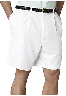 Haggar® Big & Tall Cool 18 Pleated Microfiber Shorts
