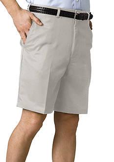Haggar® Cool 18 Plain Front Microfiber Shorts