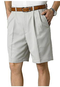 Haggar Big & Tall Cool 18 Pleated Microfiber Shorts