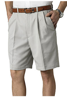 Haggar Cool 18 Pleated Microfiber Shorts