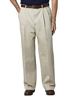 Haggar Big & Tall Work to Weekend® Classic-Fit Pleated Pants
