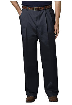 Haggar Big & Tall  Work-To-Weekend Pleat Front Pants