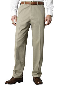 Savane® Straight Fit  Flat Front Wrinkle Resistant Chino Pants