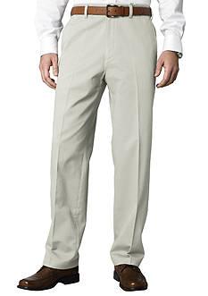 Savane Straight-Fit Flat-Front Performance Comfort Waist Chino Pants